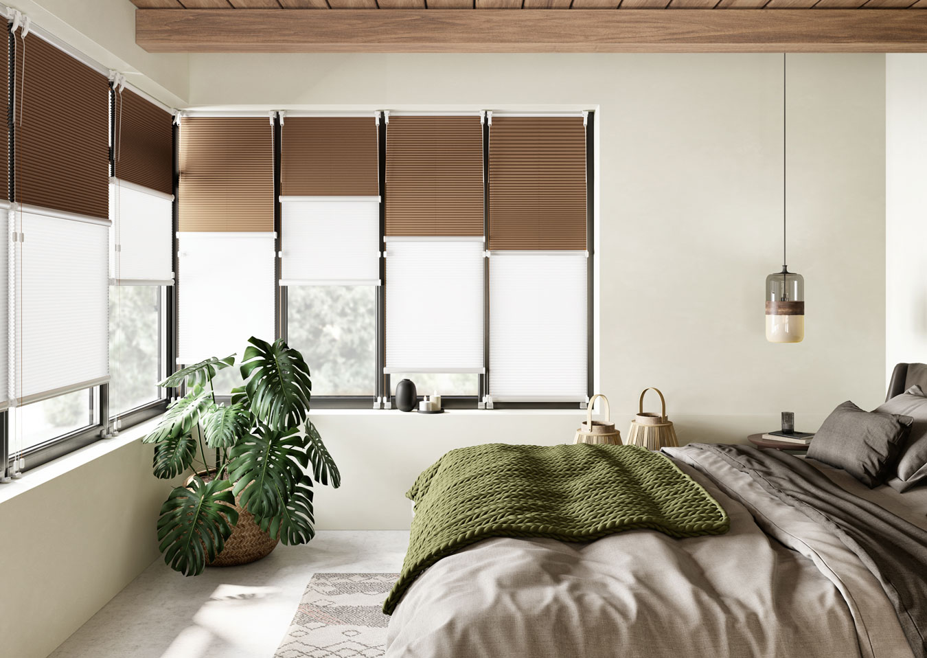 Store plissé doupli chambre